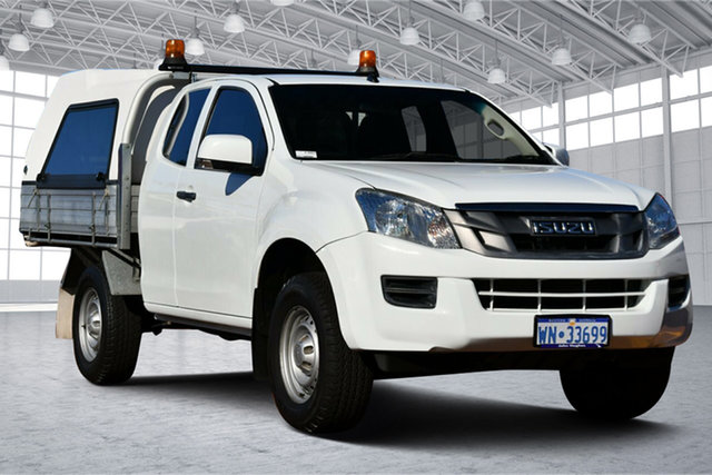 Used Isuzu D-MAX MY15 SX Space Cab Victoria Park, 2016 Isuzu D-MAX MY15 SX Space Cab White 5 Speed Sports Automatic Cab Chassis