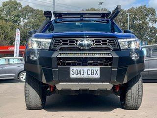 2019 Toyota Hilux GUN126R Rugged X Double Cab Blue 6 Speed Sports Automatic Utility.