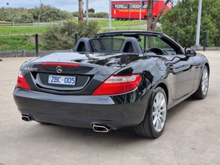 2012 Mercedes-Benz SLK-Class R172 SLK200 BlueEFFICIENCY 7G-Tronic + Black 7 Speed Sports Automatic.