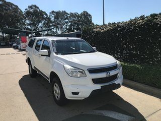 2014 Holden Colorado RG MY15 LS Crew Cab White 6 speed Automatic Utility.