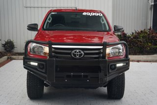 2018 Toyota Hilux GUN126R SR Double Cab Red 6 Speed Sports Automatic Utility.