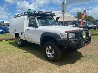 2008 Nissan Patrol GU 6 MY08 ST White 5 Speed Manual Cab Chassis.