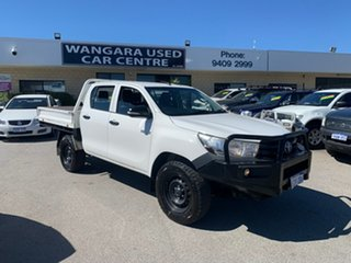 2016 Toyota Hilux GUN125R Workmate (4x4) White 6 Speed Automatic Cab Chassis.