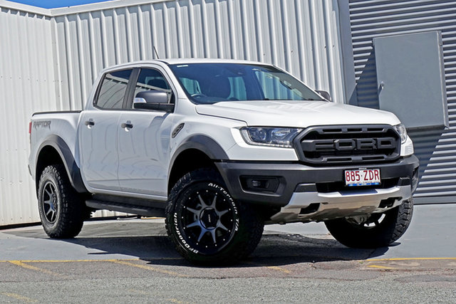Used Ford Ranger PX MkIII 2019.00MY Raptor Springwood, 2019 Ford Ranger PX MkIII 2019.00MY Raptor White 10 Speed Sports Automatic Double Cab Pick Up