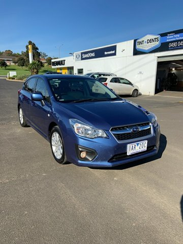 Used Subaru Impreza G4 MY14 2.0i-L Lineartronic AWD Warrnambool East, 2014 Subaru Impreza G4 MY14 2.0i-L Lineartronic AWD Blue 6 Speed Constant Variable Hatchback