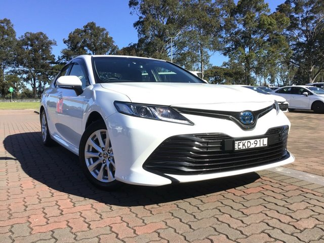 Pre-Owned Toyota Camry AXVH71R Ascent Warwick Farm, 2020 Toyota Camry AXVH71R Ascent White 6 Speed Constant Variable Sedan Hybrid