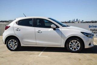 2017 Mazda 2 DJ2HA6 Maxx SKYACTIV-MT White 6 Speed Manual Hatchback.