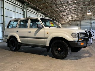1993 Toyota Landcruiser HDJ80R GXL White 5 Speed Manual Wagon.