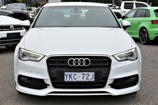 2014 Audi A3 8V MY14 Ambition S Tronic White 6 Speed Sports Automatic Dual Clutch Sedan.