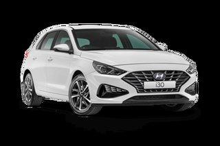 2021 Hyundai i30 PD.V4 Active Polar White 6 Speed Automatic Hatchback