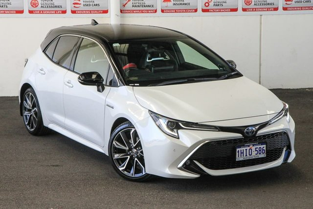 Pre-Owned Toyota Corolla ZWE211R ZR E-CVT Hybrid Rockingham, 2020 Toyota Corolla ZWE211R ZR E-CVT Hybrid Frosted White + Black Roof 10 Speed Constant Variable