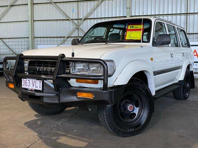Used Toyota Landcruiser HDJ80R GXL Rocklea, 1993 Toyota Landcruiser HDJ80R GXL White 5 Speed Manual Wagon
