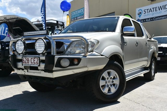 Used Toyota Hilux GGN25R 09 Upgrade SR5 (4x4) Capalaba, 2009 Toyota Hilux GGN25R 09 Upgrade SR5 (4x4) Silver 5 Speed Automatic Dual Cab Pick-up