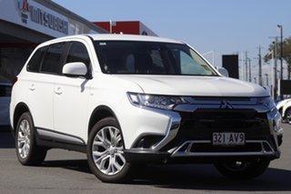 2020 Mitsubishi Outlander ZL MY21 ES AWD White 6 Speed Constant Variable Wagon.