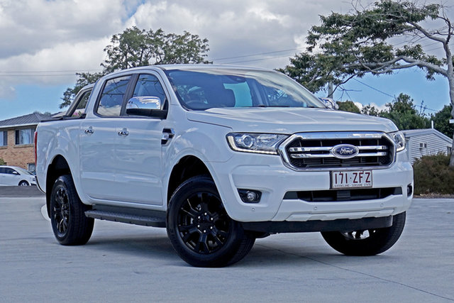 Used Ford Ranger PX MkIII 2019.00MY XLT Hi-Rider Capalaba, 2019 Ford Ranger PX MkIII 2019.00MY XLT Hi-Rider Arctic White 6 Speed Sports Automatic