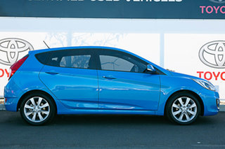 2018 Hyundai Accent RB6 MY19 Sport Blue 6 Speed Automatic Hatchback