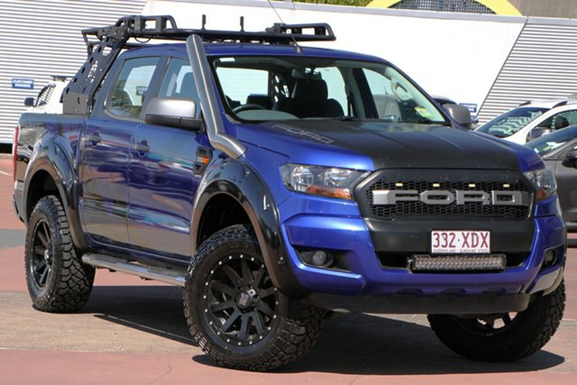 Used Ford Ranger PX MkII XLS Double Cab Toowoomba, 2015 Ford Ranger PX MkII XLS Double Cab Blue 6 Speed Sports Automatic Utility