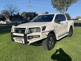 2019 Toyota Hilux GUN126R SR5 Double Cab White 6 Speed Manual Utility.
