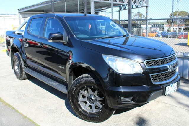 Used Holden Colorado RG MY13 LT Crew Cab Ferntree Gully, 2013 Holden Colorado RG MY13 LT Crew Cab Black 6 Speed Sports Automatic Utility