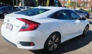 2017 Honda Civic MY16 VTi-LX White Continuous Variable Sedan.