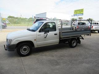 2000 Toyota Hilux White 5 Speed Manual Utility.