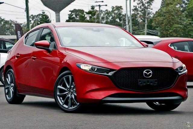 New Mazda 3 BP2HLA G25 SKYACTIV-Drive Evolve Waitara, 2021 Mazda 3 BP2HLA G25 SKYACTIV-Drive Evolve Red 6 Speed Sports Automatic Hatchback