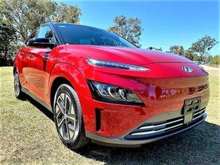 2021 Hyundai Kona Os.v4 MY21 electric Highlander Pulse Red 1 Speed Reduction Gear Wagon.