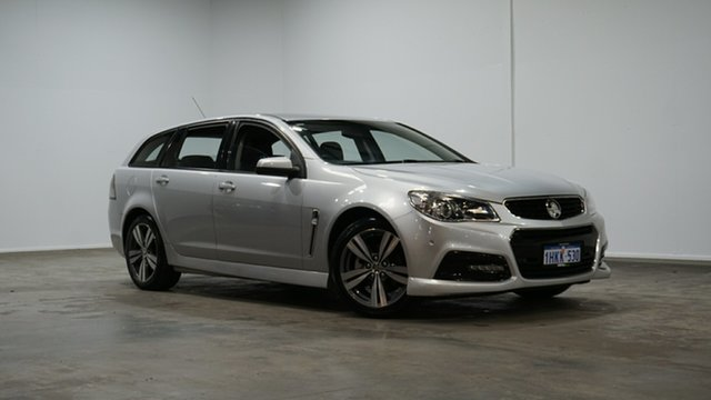 Used Holden Commodore VF MY14 SV6 Sportwagon Welshpool, 2014 Holden Commodore VF MY14 SV6 Sportwagon Silver 6 Speed Sports Automatic Wagon