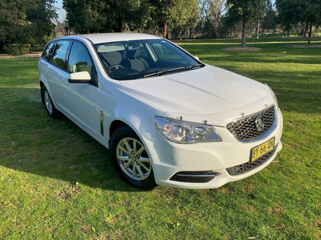 Used Holden Commodore VF MY14 Evoke Sportwagon Wodonga, 2014 Holden Commodore VF MY14 Evoke Sportwagon White 6 Speed Sports Automatic Wagon