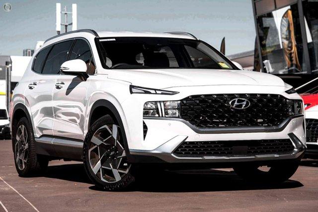 New Hyundai Santa Fe Tm.v3 MY21 Elite DCT Oakleigh, 2021 Hyundai Santa Fe Tm.v3 MY21 Elite DCT White 8 Speed Sports Automatic Dual Clutch Wagon