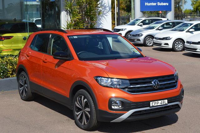 Demo Volkswagen T-Cross C1 MY21 85TSI DSG FWD CityLife Maitland, 2021 Volkswagen T-Cross C1 MY21 85TSI DSG FWD CityLife Energetic Orange 7 Speed