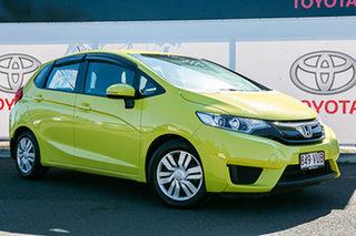 2014 Honda Jazz GK MY15 VTi Yellow Continuous Variable Hatchback.
