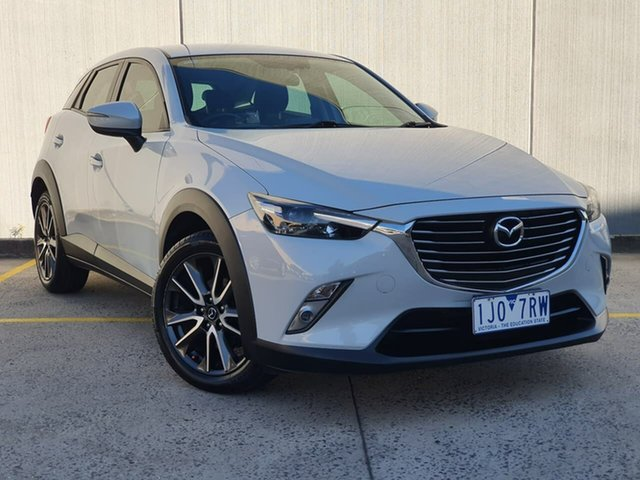 Used Mazda CX-3 DK2W7A sTouring SKYACTIV-Drive Oakleigh, 2016 Mazda CX-3 DK2W7A sTouring SKYACTIV-Drive White 6 Speed Sports Automatic Wagon