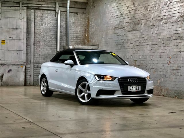 Used Audi A3 8V MY15 Attraction S Tronic Mile End South, 2014 Audi A3 8V MY15 Attraction S Tronic White 7 Speed Sports Automatic Dual Clutch Cabriolet