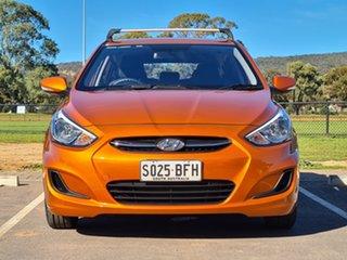 2014 Hyundai Accent RB2 MY15 Active Orange 4 Speed Sports Automatic Hatchback.