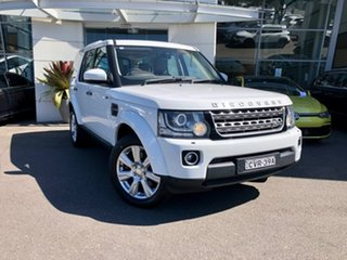 2014 Land Rover Discovery Series 4 L319 MY14 SDV6 SE White 8 Speed Sports Automatic Wagon.