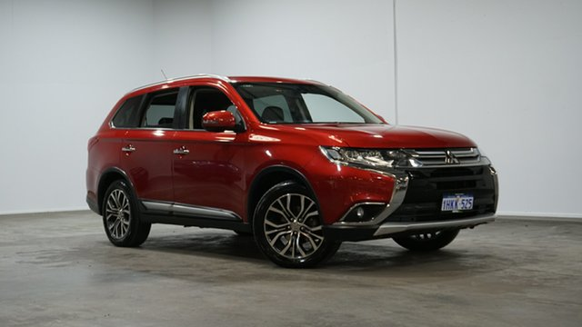 Used Mitsubishi Outlander ZK MY16 Exceed 4WD Welshpool, 2015 Mitsubishi Outlander ZK MY16 Exceed 4WD Red 6 Speed Constant Variable Wagon