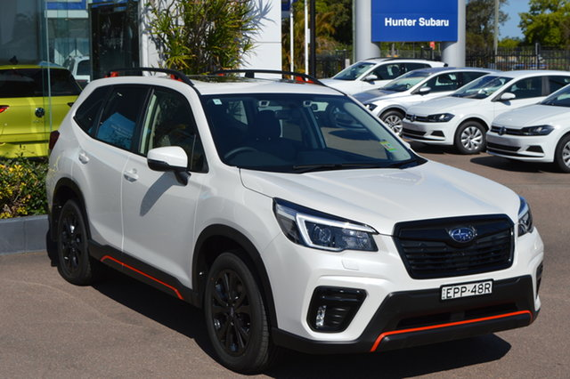 Demo Subaru Forester S5 MY21 2.5i Sport CVT AWD Maitland, 2021 Subaru Forester S5 MY21 2.5i Sport CVT AWD Crystal White Pearl 7 Speed Constant Variable Wagon