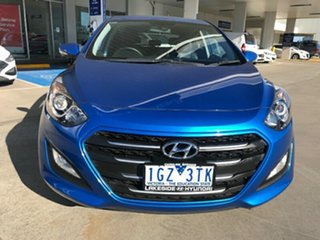 2015 Hyundai i30 GD4 Series II MY17 Active X Marina Blue 6 Speed Sports Automatic Hatchback.
