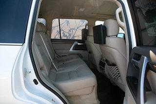 2018 Toyota Landcruiser VDJ200R Sahara Crystal Pearl 6 Speed Sports Automatic Wagon
