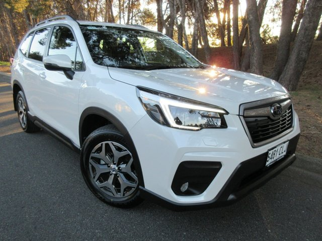 Demo Subaru Forester S5 MY21 2.5i CVT AWD Reynella, 2021 Subaru Forester S5 MY21 2.5i CVT AWD Crystal White Pearl 7 Speed Constant Variable Wagon