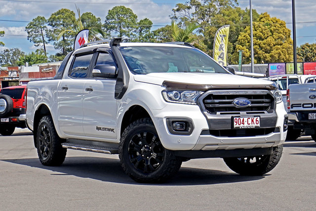 Used Ford Ranger PX MkIII 2019.00MY Wildtrak Chandler, 2019 Ford Ranger PX MkIII 2019.00MY Wildtrak White 10 Speed Sports Automatic Double Cab Pick Up