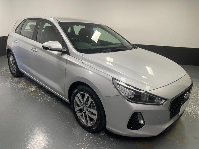 Used Hyundai i30 PD MY18 Active Hamilton, 2018 Hyundai i30 PD MY18 Active Silver 6 Speed Sports Automatic Hatchback