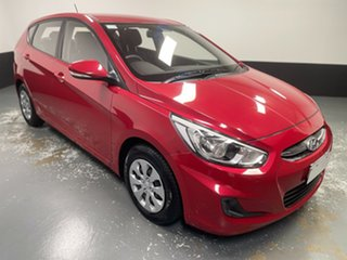 2016 Hyundai Accent RB4 MY17 Active Boston Red 6 Speed Constant Variable Hatchback.
