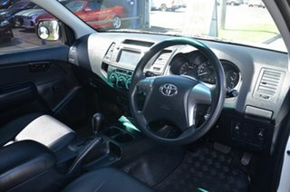 2015 Toyota Hilux TGN121R Workmate White 6 Speed Automatic Dual Cab Utility