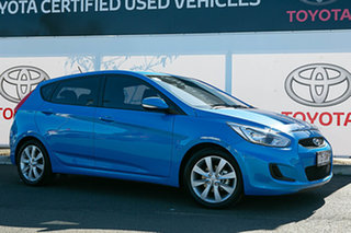 2018 Hyundai Accent RB6 MY19 Sport Blue 6 Speed Automatic Hatchback.