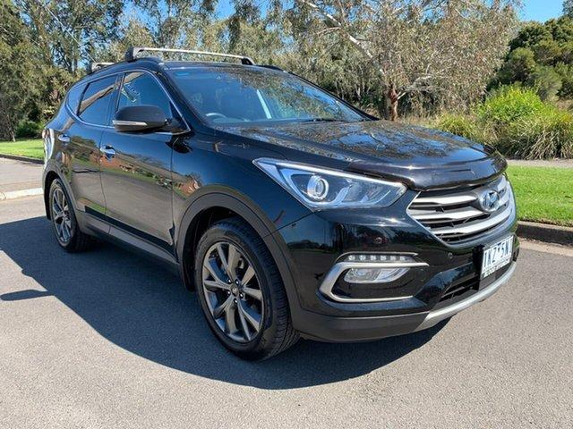 Used Hyundai Santa Fe Active X Geelong, 2017 Hyundai Santa Fe DM3 Series II Active X Black Sports Automatic Wagon