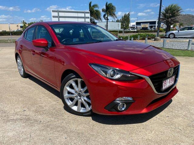 Used Mazda 3 BM5238 SP25 SKYACTIV-Drive Townsville, 2014 Mazda 3 BM5238 SP25 SKYACTIV-Drive Red/190814 6 Speed Sports Automatic Sedan