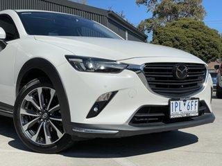 2019 Mazda CX-3 DK4W7A Akari SKYACTIV-Drive i-ACTIV AWD White 6 Speed Sports Automatic Wagon.