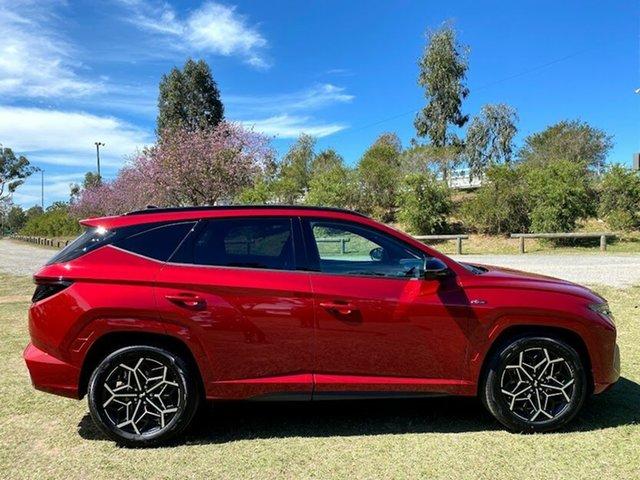 New Hyundai Tucson NX4.V1 MY22 2WD N Line Springwood, 2021 Hyundai Tucson NX4.V1 MY22 2WD N Line Crimson Red 6 Speed Automatic Wagon